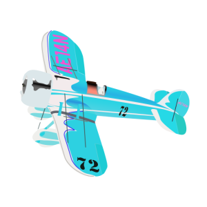 Flieger mit Propeller