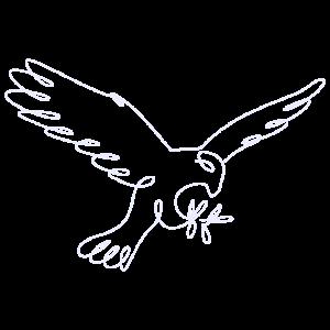 Minimalistischer Kunst Vogel Adler