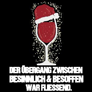 Lustiges Weihnachten Wein Liebhaber T-Shirt