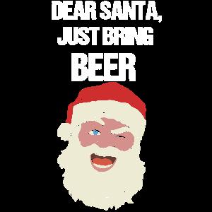 Lustiges Weihnachtsshirt Bier Weihnachten T-Shirt