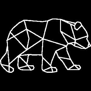 Bär Baer Animal Minimal weiss