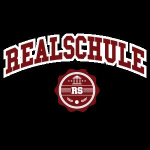 Realschule College Schriftzug Rot