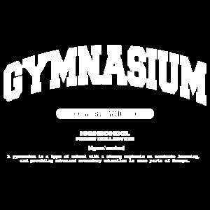 College Schriftzug Gymnasium
