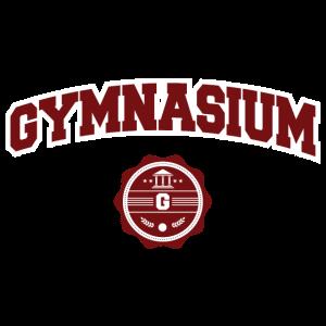 Gymnasium College-Stil Schriftzug