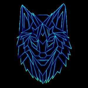 Wolf Polygon Geometrisch Design