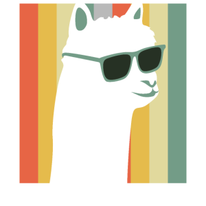 Lustiges Lama Vintage Retro Alpaka