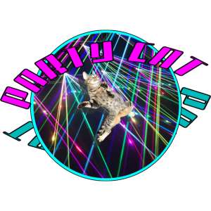 Party Cat Laser Light Kätzchen Dancing Festival