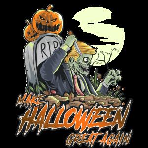Machen Sie Halloween wieder großartig Zombie Trump TShirt