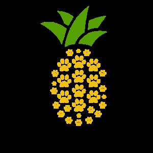 Süßes Ananas Pfoten Abdrücke Tier Liebhaber Ananas