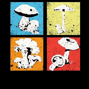 Retro Pilzsammler Pilze