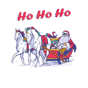 Weihnachten Schlitten Einhorn Christmas Unicorn