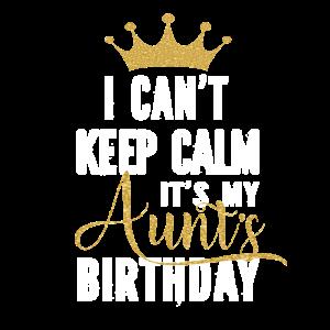 Ich kann mich nicht beruhigen Es ist die Geburtstagsfeier meiner Tante