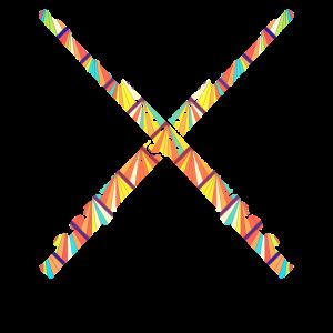 Geometrisches T-Stück der Flöte