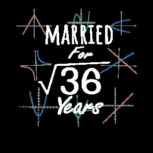 Mathe 6. Jahrestagsgeschenk Verheiratete Quadratwurzel von