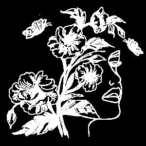 Blumen Gesicht Zeichnung Silhouette