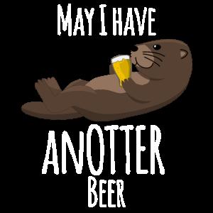 Otter mit Bier - lustiger Spruch