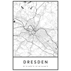 Dresden Karte Stadtplan Straßenplan Elbe Linien