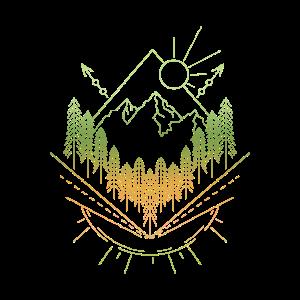 Wandern Wald Berge