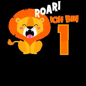 Ich Bin 1 Löwe Geburtstag Ein Jahr Jungen Geschenk