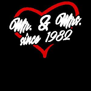 Mr. & Mrs. Since 1982 - 38. Hochzeitstag Geschenk