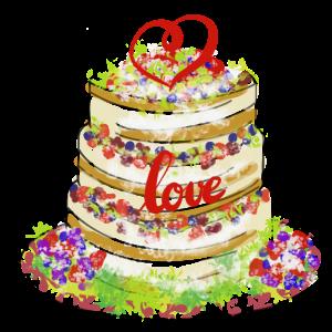 Motiv Hochzeitstorte Ehe Hochzeit Paare Herz Liebe