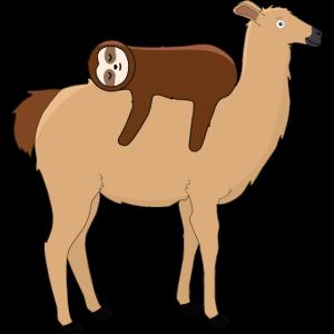 Lama mit Faultier Alpaka