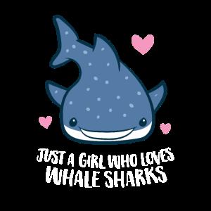 Nur ein Mädchen das Walhaie liebt