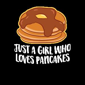 Nur ein Mädchen das Pfannkuchen Liebt