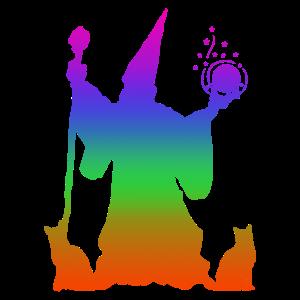 Zauberei Regenbogen Silhuette