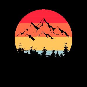 Berge Wandern Wanderer Vintage