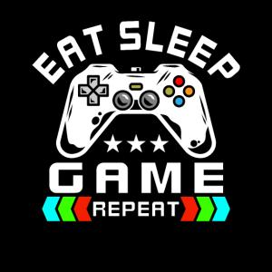 Eat Sleep Game Repeat Geschenk für Gamer