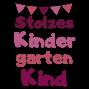 Stolzes Kindergartenkind