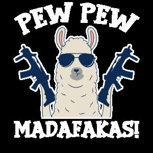 Pew Pew Madafakas Fantasy Lama mit Pistole Alpaka