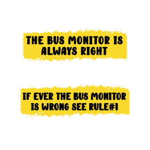 School Bus Monitor Rules
