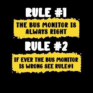 School Bus Monitor Rules