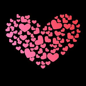 Herz aus Herzchen - Romantisch - Jahrestag