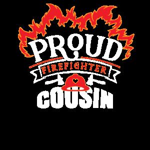 Stolze Feuerwehrmann Cousin Appreciation Family