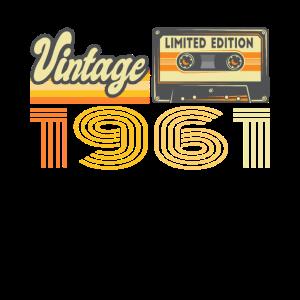 Vintage 1961 Kassette Mixtape - 60. Geburtstag