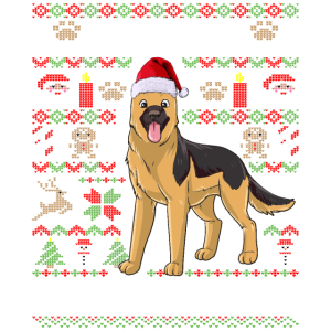 Ugly Christmas Schäferhund Weihnachten