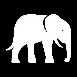 Elephant Icon White