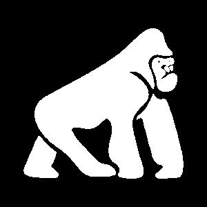Gorilla White Icon