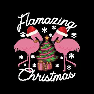 Flamazing Christmas Flamingo fü Frauen und Mädchen
