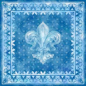 Fleur-de-lis blaues Aquarell