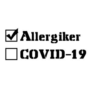 Allergiker, kein Covid-19