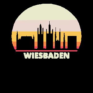 Wiesbaden Skyline Retro Vintage