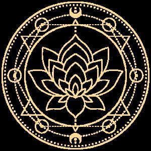 Lotus Mond Heilige Geometrie