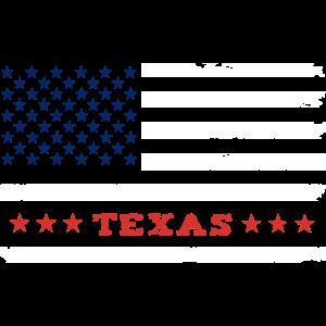 Texas US Flag Vintage