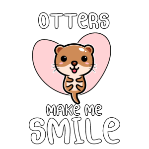 otters make me smile   Geschenk