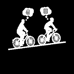 Funny Ebike E Bike Bier Radfahrer