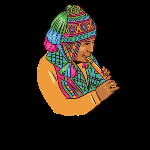 Peruanischer Musiker Peruaner Peru Kultur Musik